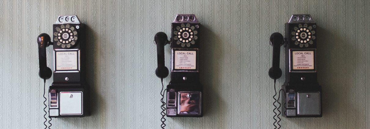 Old style wall phones