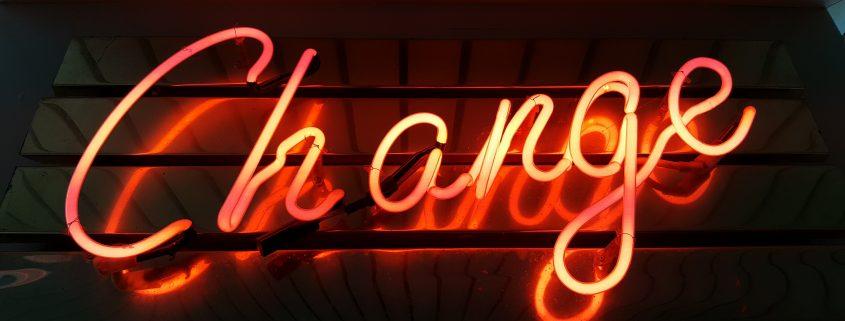 Neon Change Sign